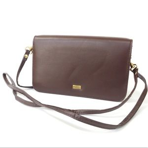 Buxton Organizer Mini Crossbody Bag-Burgundy